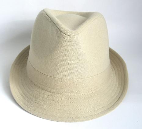 Trilby Linen Hat, naturfärgad