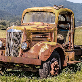 Better Days by Craig Pifer - Transportation Automobiles ( broken, worn out, oregon, vintage, truck, automobile, rust, old truck )