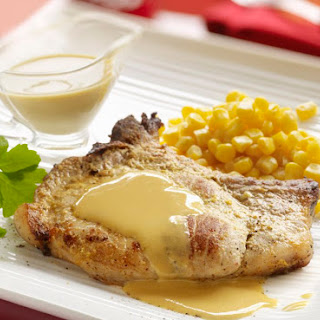 Saucy Baked Pork Chops with Ranch Sauce.
