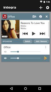 Integra Music Control App - náhled