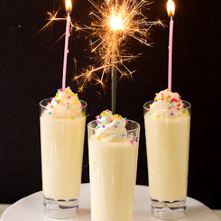 Birthday Cake Pudding Shots.