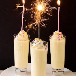 Birthday Cake Pudding Shots.