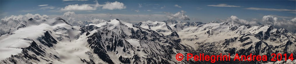 Photo: Panorama 4 13cime scendendo dalla normale del Gran Zebru