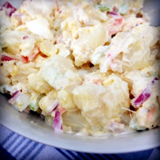 My Mother's Potato Salad, with radishes