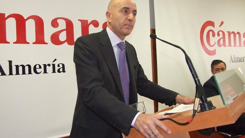 Diego Martínez Cano como presidente de la Cámara de Comercio.