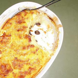 Baked Raisin Rice Pudding.
