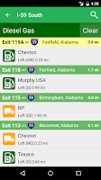 Screenshot of iExit Interstate Exit Guide