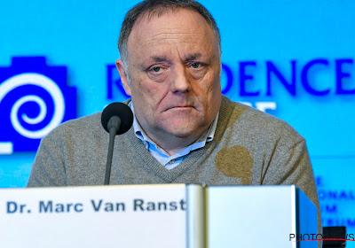 """Marc Van Ranst pointe encore les footballeurs du doigt : """"C'est déraisonnable"""""""