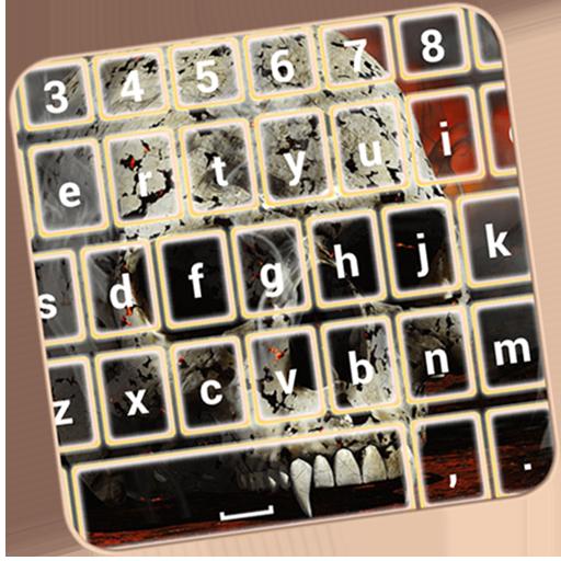 Skull Emoji Keyboard Themes