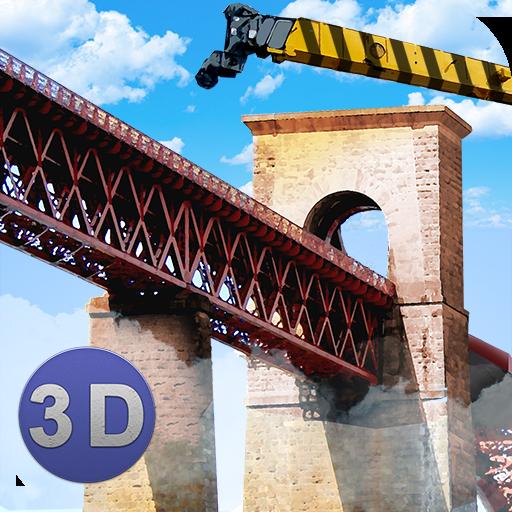 Bridge Construction Crane Sim