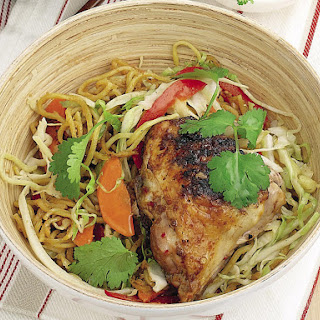Grilled Chicken with Peanut Noodles
