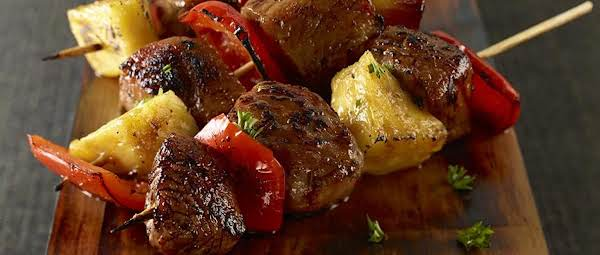 Sweet And Spicy Pork Mini-kabobs Recipe