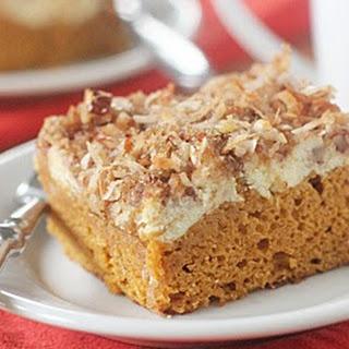 Pumpkin Cream Cheese Coffee Cake.