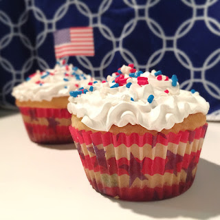 July 4th Jello Poke Cupcakes
