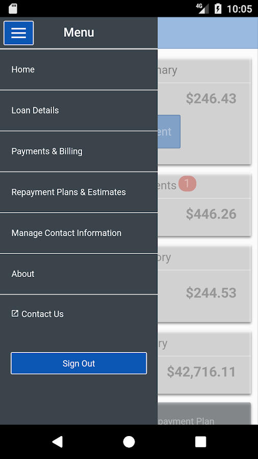 AES Student Loans- screenshot