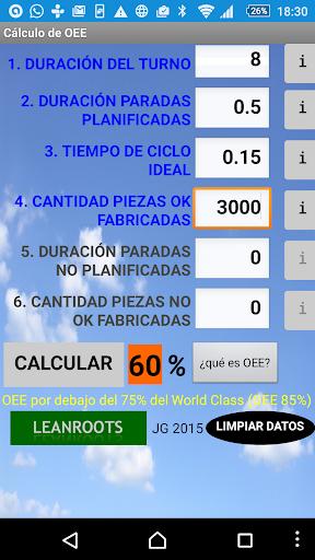 OEE Calculator Leanroots