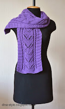 Photo: вязаный шарфик под шапочку Виолетта