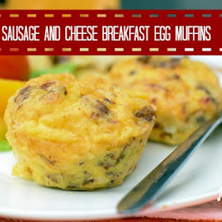 Sausage and Cheese Breakfast Egg Muffins.