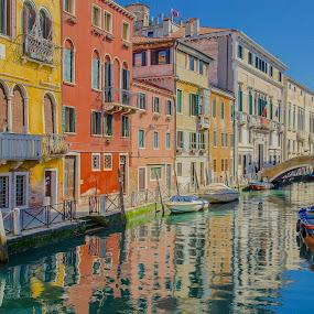 Venice by Mihail Marzyanov - City,  Street & Park  Vistas