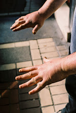 Photo: Hands of a street fighting man #streetphotography #filmphotography #dublin