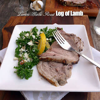 Lemon Garlic Roast Leg of Lamb.