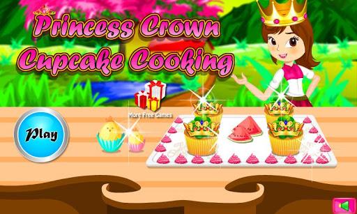 Princess Crown Cupcake Cooking
