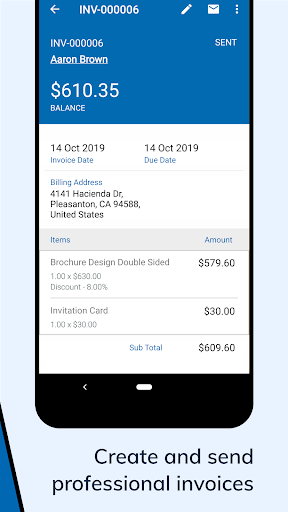 Zoho Invoice - Online Invoicing & Billing Software 5.23.07 screenshots 2