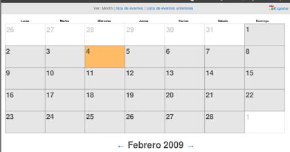 Photo: Parte de la localización al Español de Calendaring en cyn.in