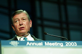 Photo: DAVOS,24JAN03 -John Ashcroft, US Attorney-General, speaks during the session 'How the Fight against Terrorism will Change the World' at the 'Annual Meeting 2003' of the World Economic Forum in Davos, Switzerland, January 24, 2003. 