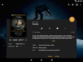 Screenshot of Plex for Android