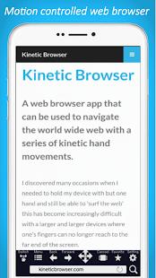 Kinetic Browser - náhled