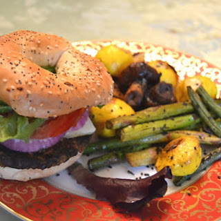 Black Bean Burgers with Spicy Grilled Vegetables