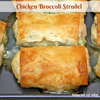 Chicken and Broccoli Strudel.