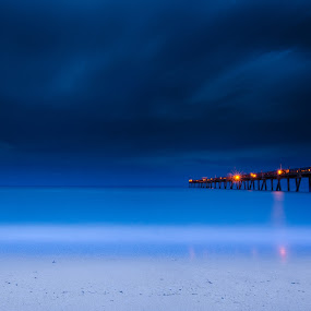 Heavy Skies by Ibrahim Cetindemir - Landscapes Beaches ( stormy, water, waterbeach, thephotosociety, self, beach, landscape, storm, portrait, nightscape, lighting, southflorida, sunset, pier, documentary, night, storms, longexposure )
