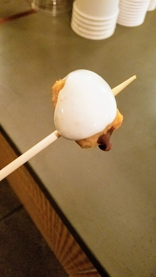 Chefs Week PDX 2017 Heritage Dinner at Chesa on May was followed by an after party featuring churros from 180 like these marshmallow covered stuffed churros on a skewer that you could take outside to this fire pit