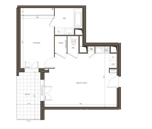 Vente appartement 2 pièces 47,81 m2