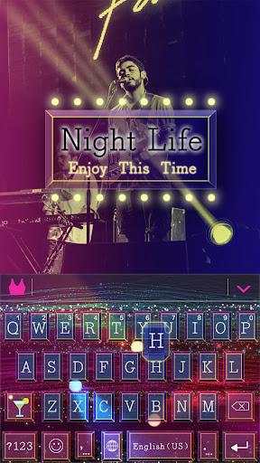 Nightlife Emoji Keyboard Theme
