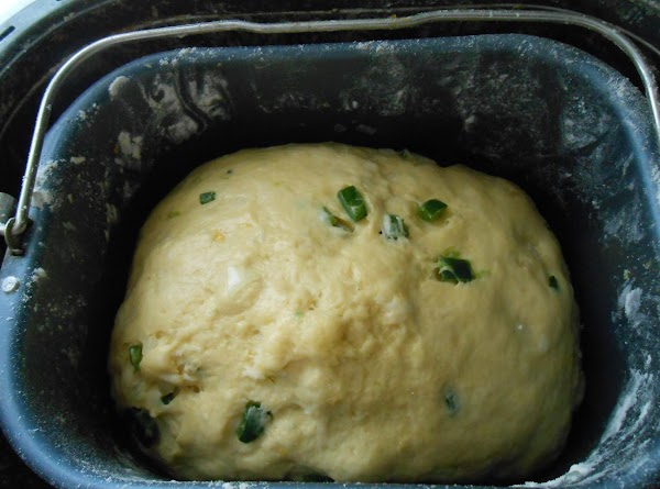 Once it's all incorporated, let it finish kneading and rising.