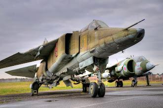 Photo: MIG-23 BN , na drugim planie Harrier