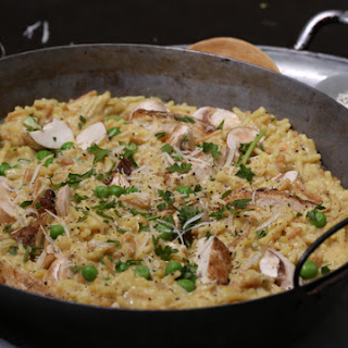 Quick Risotto-Style Rice & Chicken.