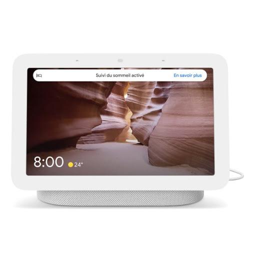 [Image] Gros plan sur NestHub avec un fond d'écran montrant un désert.