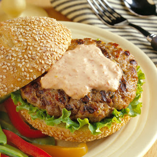 Spicy Asian Ground Pork Burgers.
