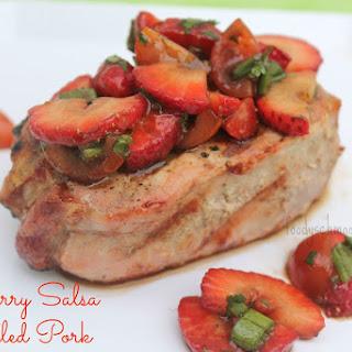 Strawberry Salsa Grilled Pork Chops