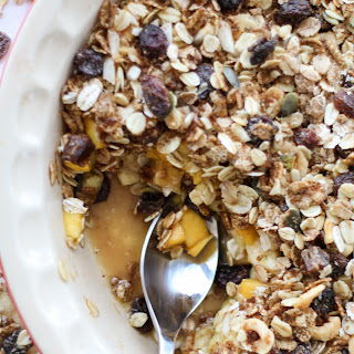 Healthy Vegan Fruit Crisp with Tropical Fruit