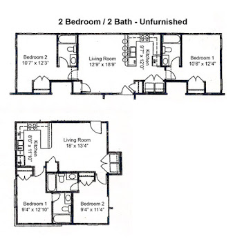 Go to Two Bed, Two Bath SP Floorplan page.