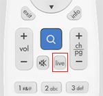 Google Fiber remote with live button