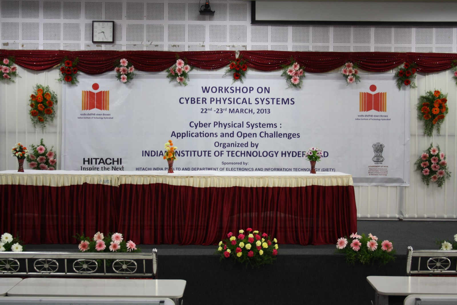Photo: Workshop on Cyber Physical systems  22nd & 23rd March 2013