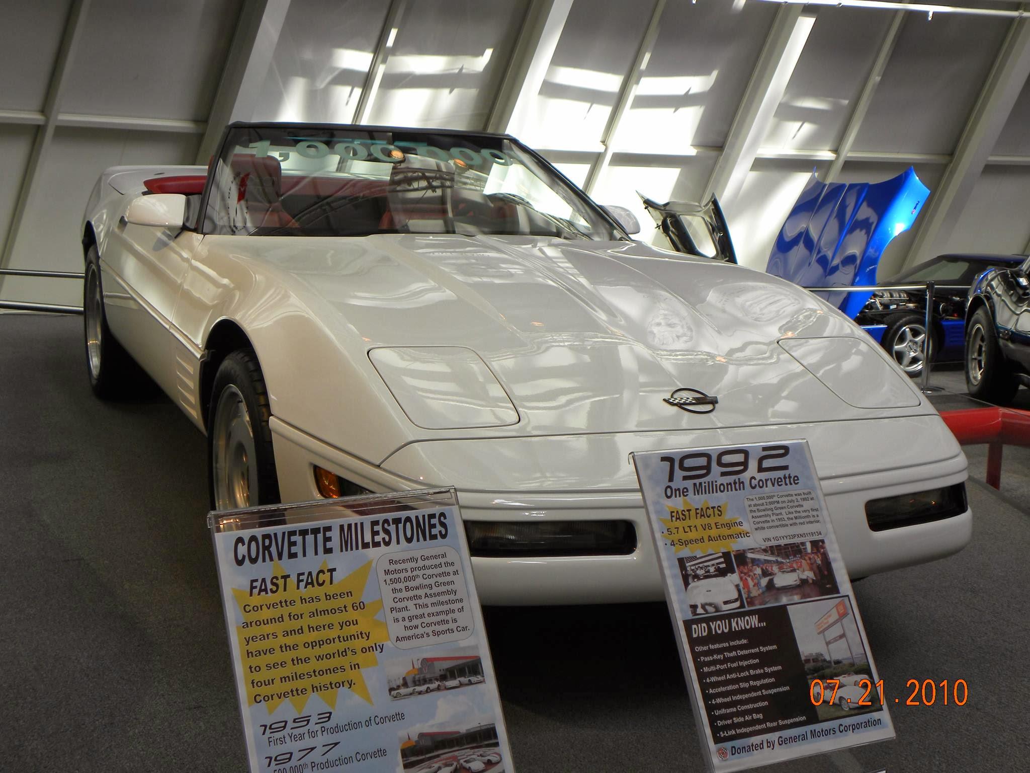 Photo: 1992 White 1 Millionth Corvette