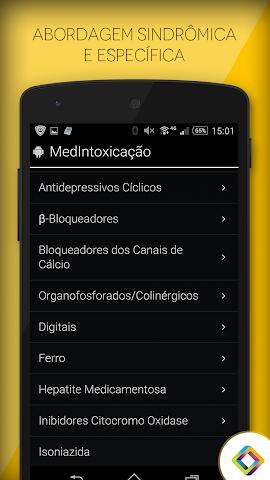 android MedIntoxicação: Intoxicações Screenshot 3