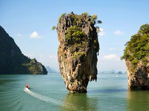Photo: B2TJK3 View to Koh Tapu, so-called James Bond Island, The Man with the Golden Gun, Ko Khao Phing Kan, Phang-Nga Bay, Ao Phang Nga Natio